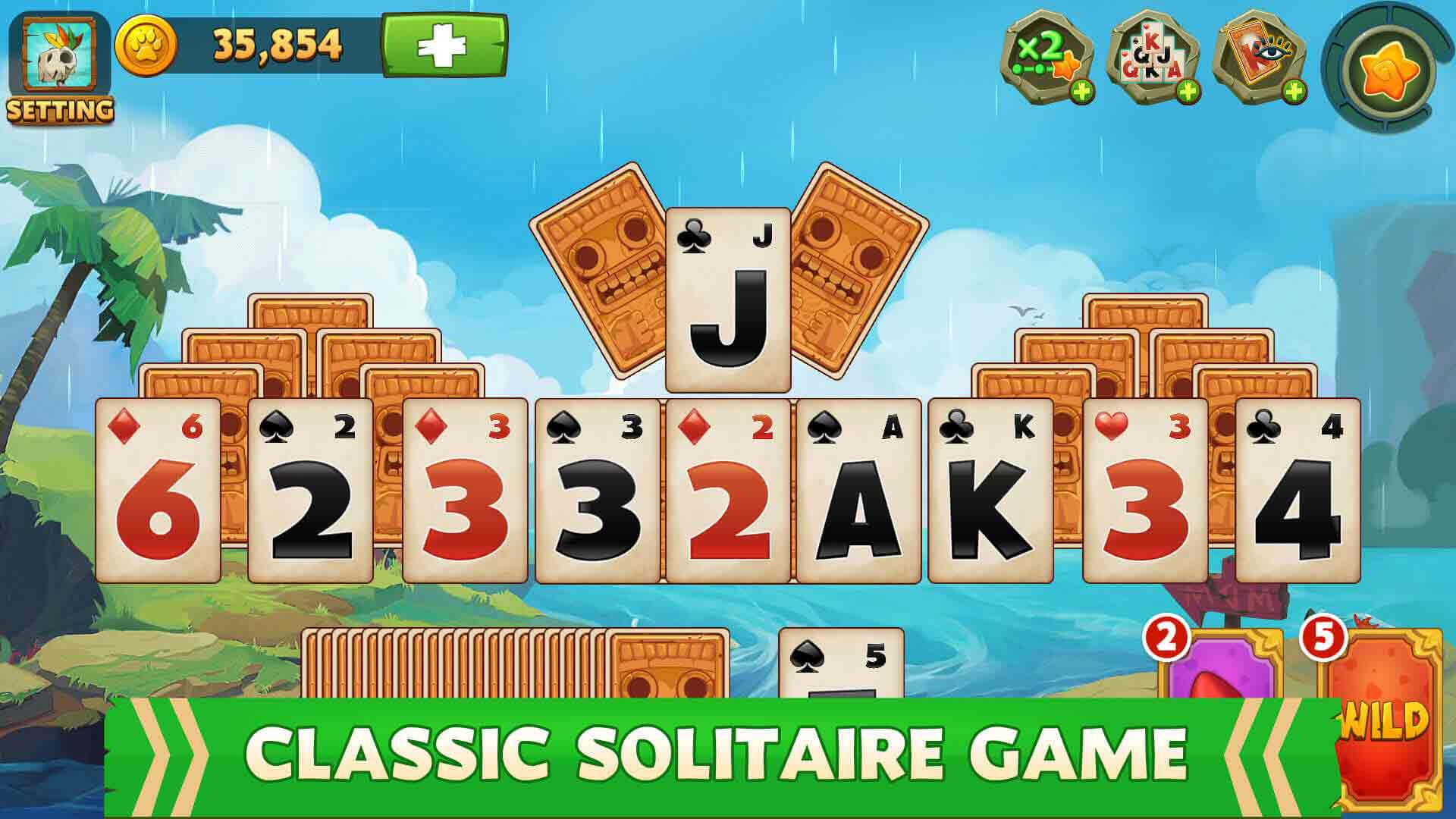 solitaire gameplay features